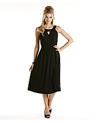 Joanna Hope Jet Jewel Trim Dress