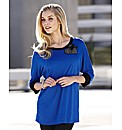 Joanna Hope Jewel Heart Trim Tunic