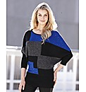 Joanna Hope Patchwork Knitted Jumper