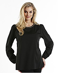 Joanna Hope Embellished Shoulder Blouse