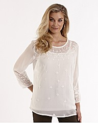 Joanna Hope Embroidered Blouse and Cami