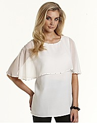Joanna Hope Stud Trim Cape Top