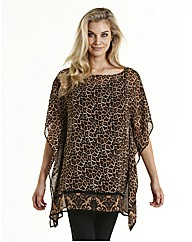 Joanna Hope Animal Print Kaftan
