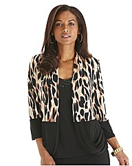 Joanna Hope Animal Print Jersey Jacket