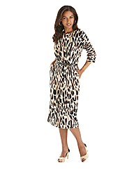 Joanna Hope Print Jersey Dress and Belt