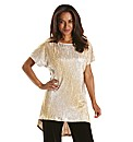 Joanna Hope Metallic Dip Hem Tunic