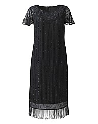 Petite Joanna Hope Beaded Fringe Dress
