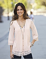 Together Lace Trim Blouse