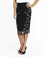 Joanna Hope Beaded Embellished Skirt