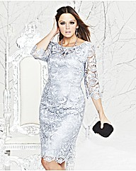 Silver Sparkly Winter Dress - Simply Be