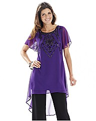 Joanna Hope Jet Jewel Trim Tunic