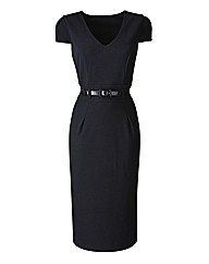 Joanna Hope Belted Jersey Dress