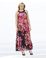 Joanna Hope Jewel Trim Print Maxi Dress