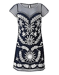 Joanna Hope Contrast Beaded Tunic