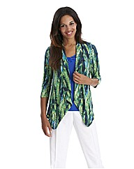 Joanna Hope Print Waterfall Shrug