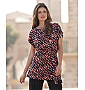 Joanna Hope Belted Print Tunic