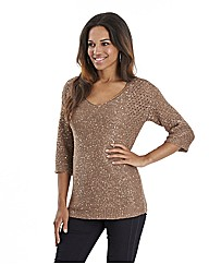 Joanna Hope Sequin Knit Jumper