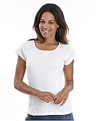 Joanna Hope Embellished Shoulder Top