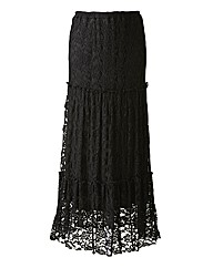 Joanna Hope Tiered Lace Maxi Skirt