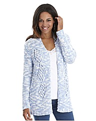 Joanna Hope Pointelle Detail Cardigan