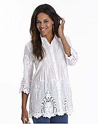 Joanna Hope Cutwork Cotton Blouse