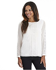 Joanna Hope Lace Trim Blouse