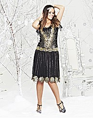 Sparkly Black Winter Dress - Simply Be