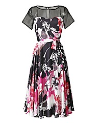 Joanna Hope Print Satin Dress
