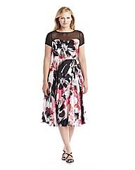 Joanna Hope Print Satin Dress
