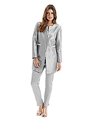 Joanna Hope Longline Pearl Trim Jacket