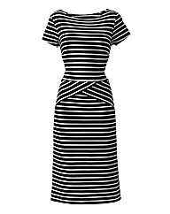 Joanna Hope Stripe Jersey Dress