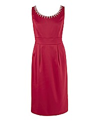 Joanna Hope Pearl Trim Dress