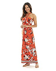Joanna Hope Print Halter Maxi Dress