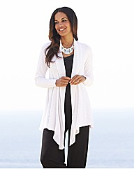 Joanna Hope Sequin Waterfall Cardigan