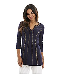 Joanna Hope Embellished Jersey Tunic
