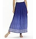 Joanna Hope Ombre Crinkle Maxi Skirt
