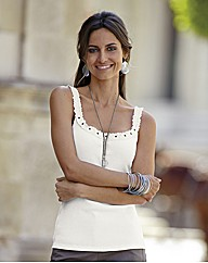 Together Lace Trim Vest