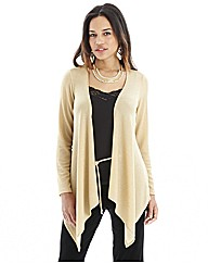 Joanna Hope Metallic Jersey Cardigan