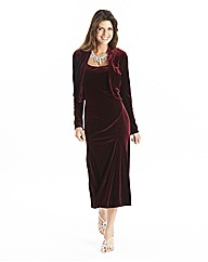 Joanna Hope Velour Dress and Bolero