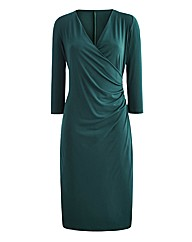 Joanna Hope Mock Wrap Jersey Dress