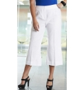 Cropped Linen Mix Trouser Length 21in