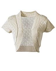 Knitted Short Sleeve Shrug Cardigan