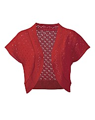 Knitted Short Sleeve Shrug Cardigan
