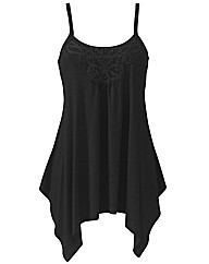 Asymmetric Lace Trim Camisole