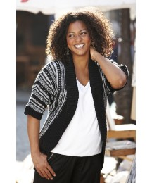 Batwing Striped Cardigan