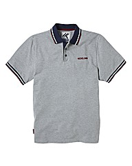 Nickelson Basic Grey Marl Polo