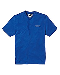Nickelson Blue Grandad T-Shirt