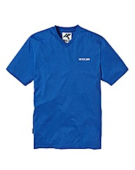 Nickelson Blue V-Neck T-Shirt