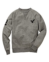 Voi Salt n Pepper Rigger Crew Neck Sweat