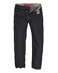 Jacamo Black Button Fly Jean 33In Leg